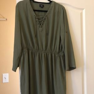 Dark olive green dress